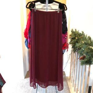 Garnet maxi skirt